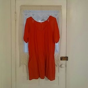 J. Crew drop waisted dress w/pockets XL